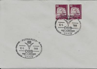 """100% Wahr Brd Brief Rand """"25 Jahre Vogelfluglinie Dk-brd"""" 2449 Puttgarden (1a) 12.5.1988"""