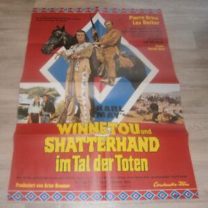 A1-Filmplakat - WINNETOU SCATTERHAND IN TAL DER TOTEN  Pierre Brice, Lex Barker