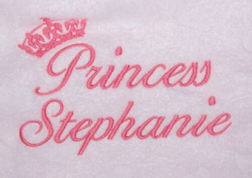 Personalised Embroidered Baby Fleece Blanket Girls /& Boys Gift Prince /& Princess