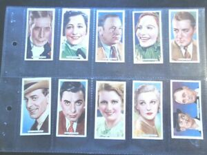 1935-Ardath-Film-Stage-amp-Radio-Stars-set-50-Tobacco-Cigarette-cards-actor-Ex-Mt