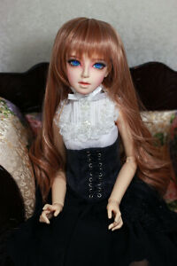 1-3-8-9-034-BJD-DOLL-WIG-SD-PEACH-BROWN-BLOND-BLEND-CURLY-DOLLFIE-JR-143-USA-NEW