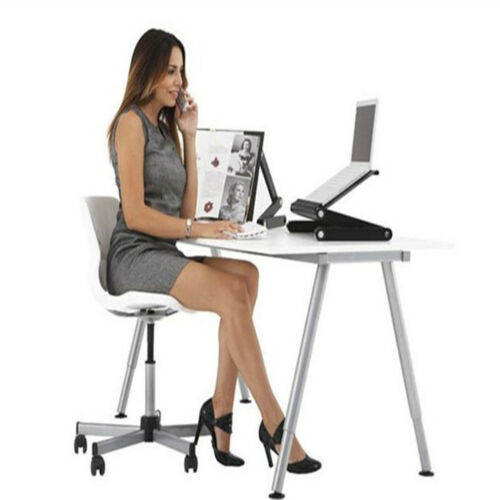 Black Portable Lap Desk Folding Laptop Table Bed Computer Tray Stand Home Office