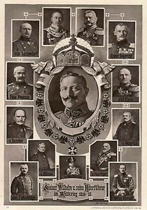 PHOTO MAGNET Austria Kaiser Wilhelm II 1914 Military Leaders WW1