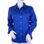 thumbnail 1 - Chico's Carmen Long sleeve Button Up Collared Top in French Blue Size 1 US M NWT