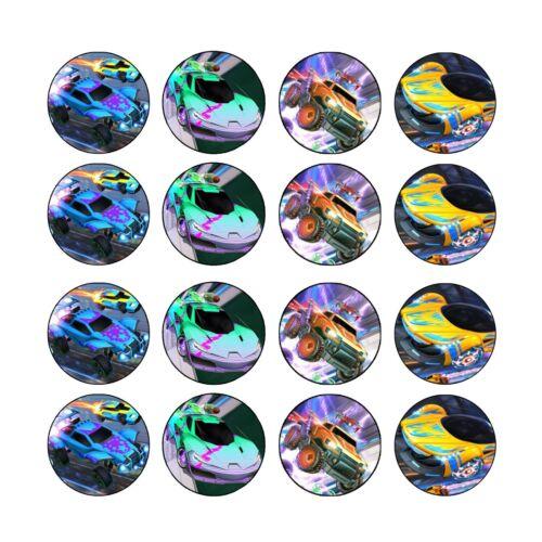 uncut Rocket League Edible Wafer Cupcake Toppers Images Decorations 4cms x24