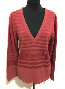 LANCETTI-Jersey-Frauen-T-Shirt-Viskose-rayon-Frau-T-Shirt-Pullover-SZ-l-46