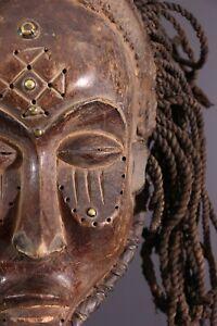 MASQUE-CHOKWE-AFRICAN-ART-AFRICAIN-PRIMITIF-ARTE-AFRICANA-AFRIKANISCHE-KUNST
