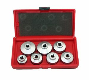 ABN Paper Cartridge Housing Oil Filter Cap Wrench 7-Piece Socket Set Tool Kit