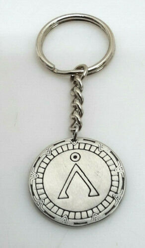 "FREE S/&H Stargate SG-1 Earth Symbol in Gate 1/"" Key Chain"