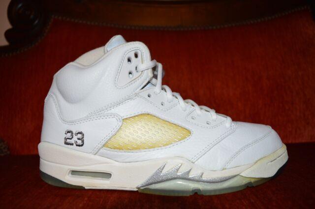 buy online 4befc d5f8e 2000 Nike Air Jordan 5 V Retro 3/4 Hi Size 8.5 White Metallic Silver  136045-101