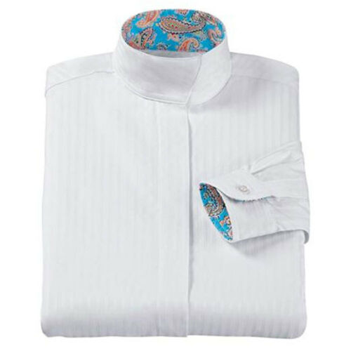 Details about  /5400 Devon-Aire Childrens Long Sleeve Wrap Collar Show Shirt White NEW