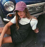 Brandy Melville Burgundy Baseball Cap Hat Katherine Adjustable
