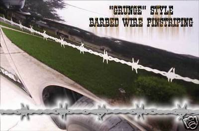 Barbedwire Pinstriping - Grunge Style -White - Ford, Dodge, Chevy, Nissan, etc