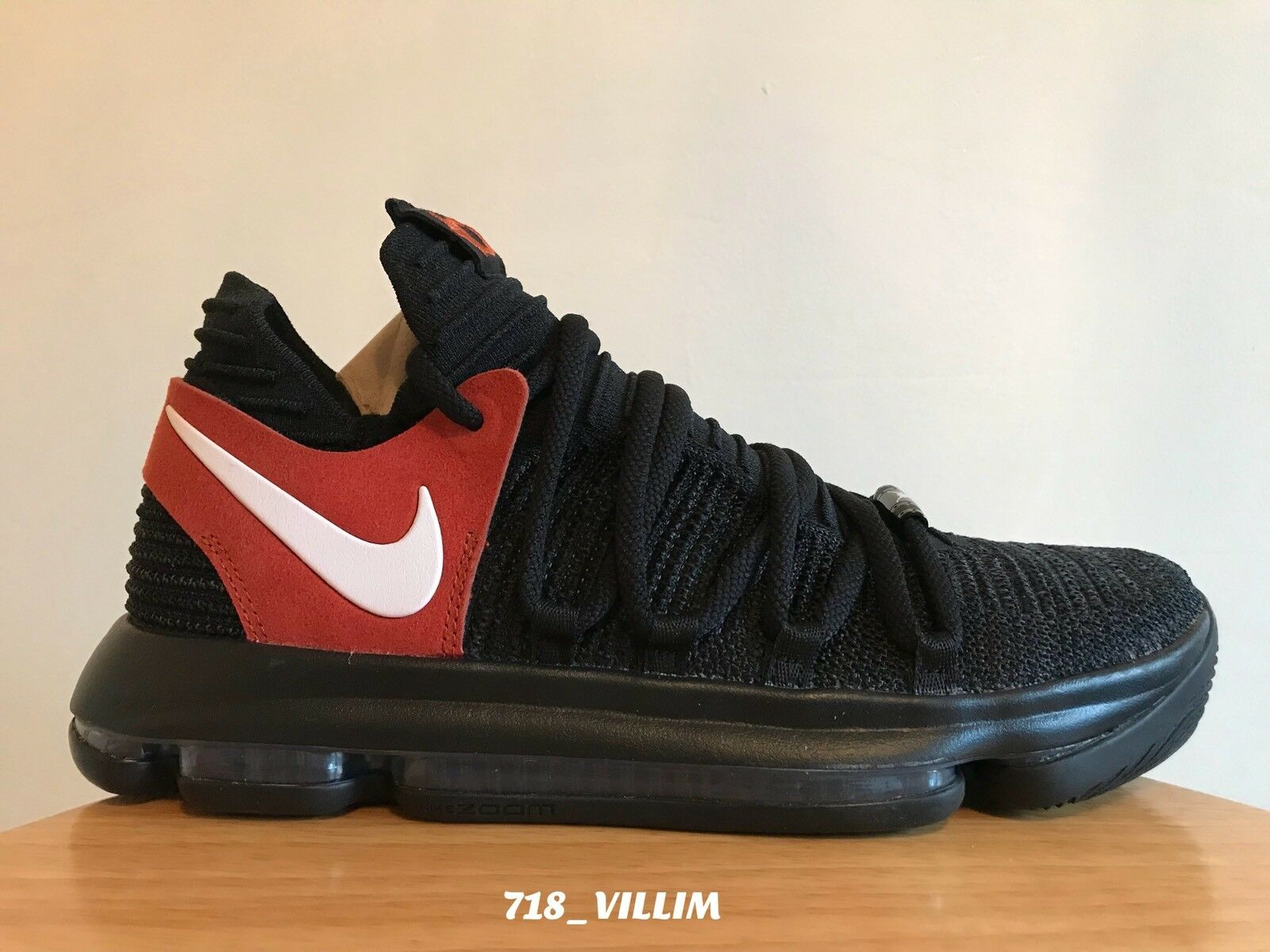 NIKE AIR ZOOM KD 10 TEXAS PROMO BLACK WHITE DESERT orange 938150 001 SIZE 9 NEW