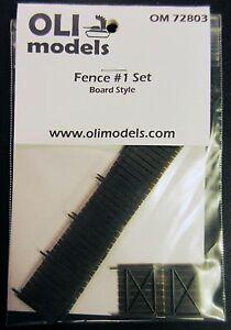 1-72-FENCE-1-Set-034-Board-Style-034-for-Vignette-Diorama-OLI-Models-72803