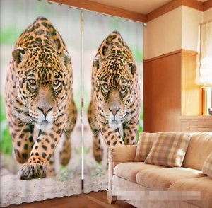 3d dos Leopard 574 bloqueo foto cortina cortina de impresión sustancia cortinas de ventana