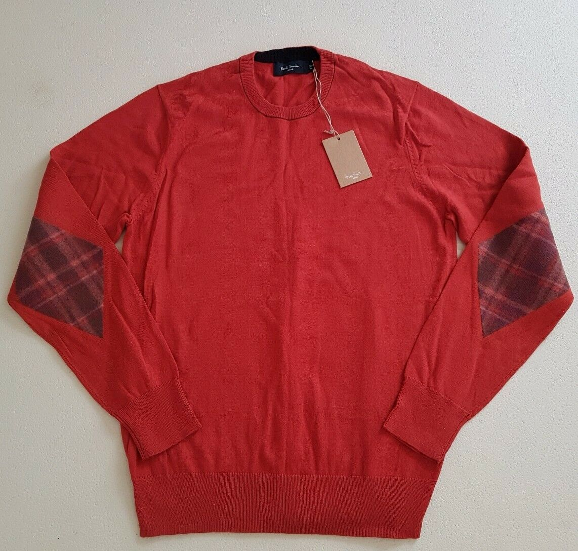PAUL SMITH JUMPER SWEATER MENS orange SIZE M (40) TARTAN NEW WITH TAGS RRP