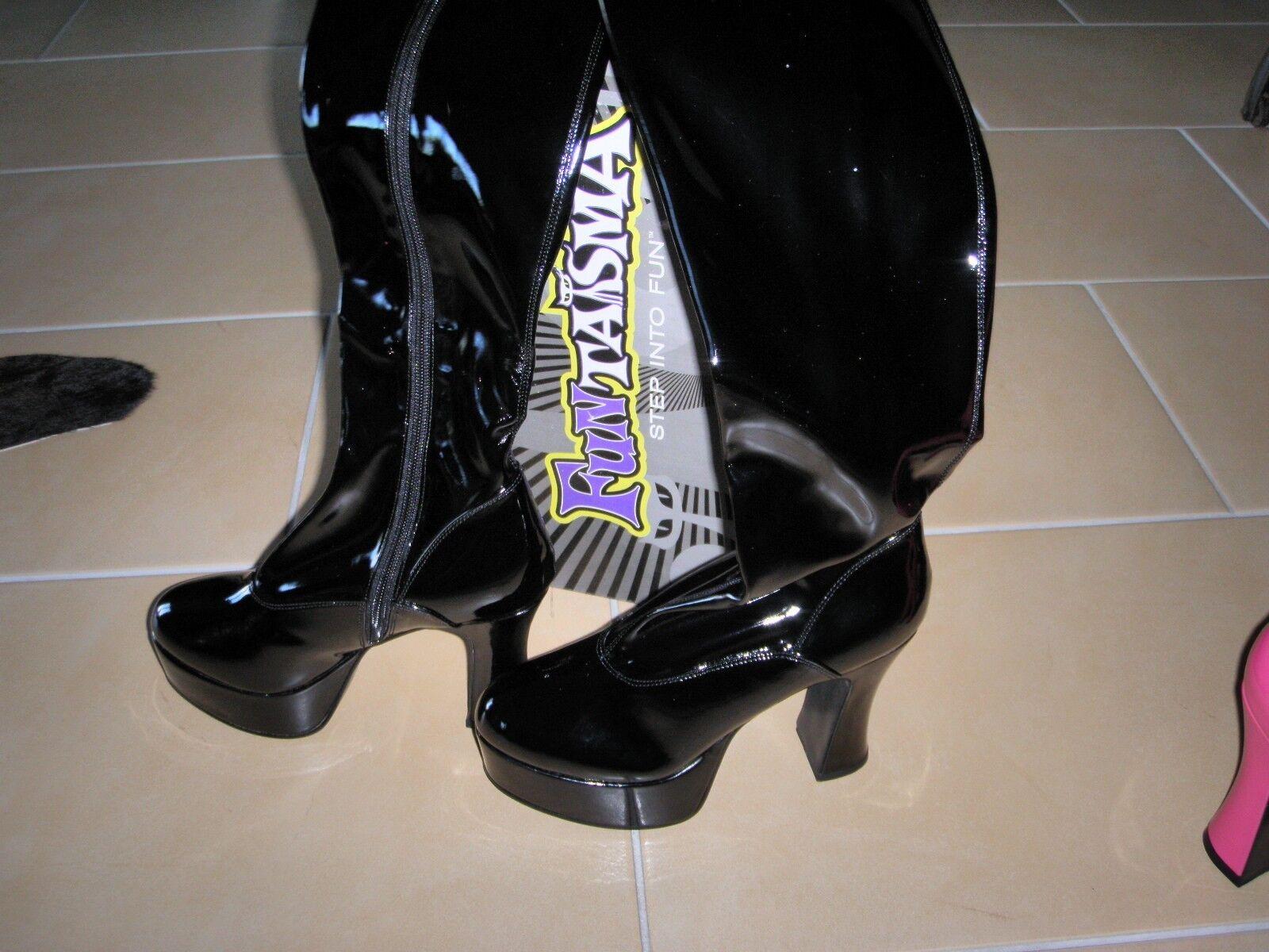 Plateau Stiefel Funtasma - NEU - Lack schwarz Größe 36