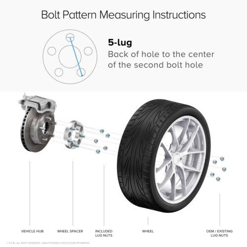 "5x114.3 Hubcentric Wheel Spacersfor Mazda Hyundai Kia 67.112x1.5 25mm 1/"""