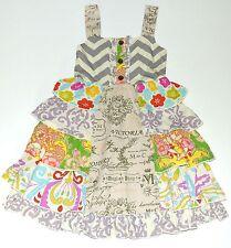 Mustard Pie 7 Dress Juliet Fruit Linen Ruffle Smocked Cotton Girls kk1