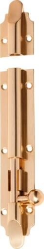 polished brass victorian barrel bolt and surface keeper,150 x 32 mm,TH 1402