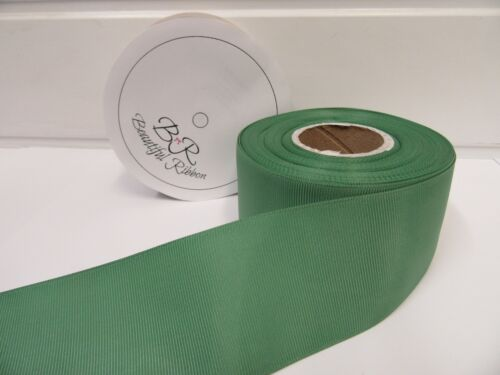 3mm 6mm 10mm 16mm 22mm 38mm 50mm fresco Salvia Verde Cinta del Grosgrain Doble Acanalado