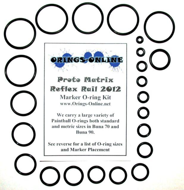 Proto Matrix Reflex Rail 2012 Paintball Marker O-ring Oring Kit x 2 rebuilds