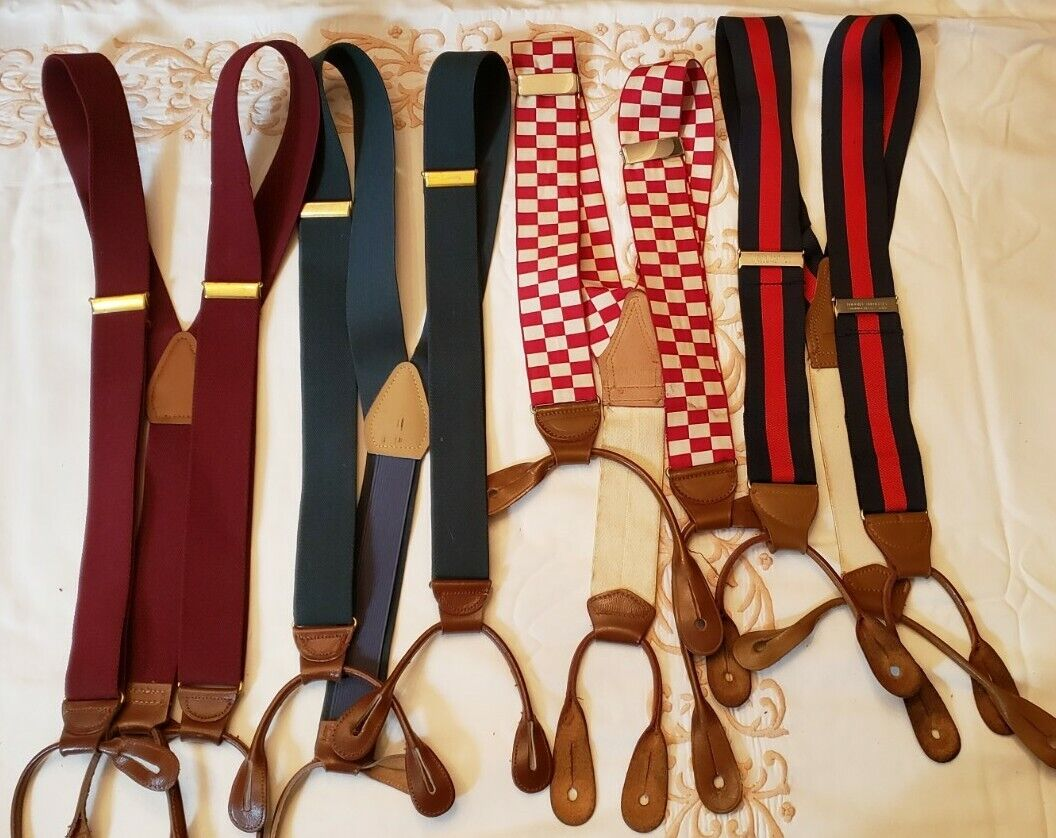 Lot Of Four Suspenders Brook Brothers and Other