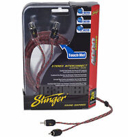 NEW STINGER SI4217 2 CHANNEL 4000 SERIES 17 FEET RCA INTERCONNECT CABLE