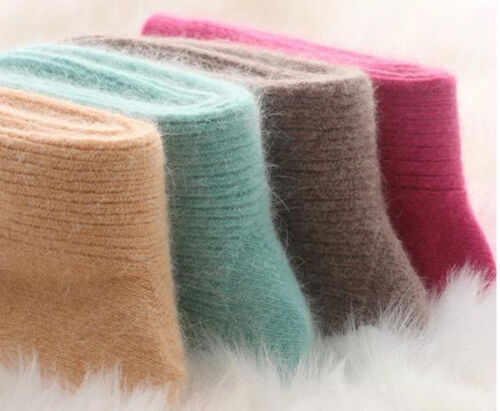 3Pairs New 100/% Pure Cashmere Wool Thick Warmer Women Socks Comfortable Warm