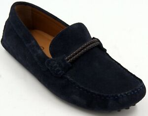 aldo driving loafer blue suede slip on men's casual moc sz