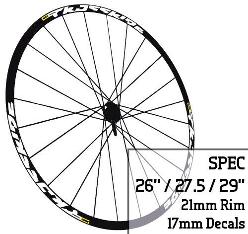 Bicycle Wheel Rim Decals Stickers MTB Mavic CROSSRIDE 26 27.5 29 INCH