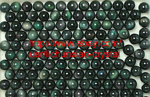 20Pcs-RAINBOW-NATURAL-Cats-Eye-Obsidian-QUARTZ-CRYSTAL-Sphere-Ball-RARE