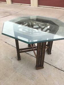 Details About Vtg Drexel Gl Octagon Dining Table Chinoiserie Mid Century Modern