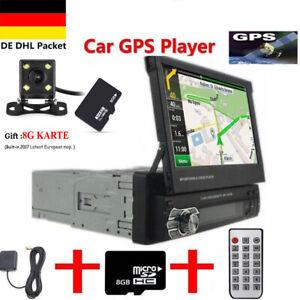 """1DIN 7"""" AUTORADIO MIT NAVIGATION NAVI GPS BLUETOOTH RÜCKFAHRKAMERA USB SD MP3"""