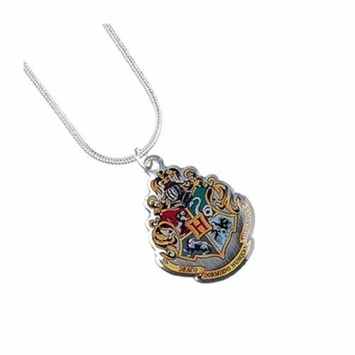 Harry Potter Hogwarts School Crest Necklace Pendant - Silver Plated Jewellery