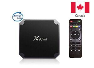 Android TV Box, 7.1 X96 Mini S905 Quad Core Smart Box, with WiFi, 1G/8G, Remote