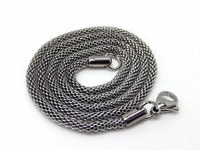 Snake Chain Necklace Stainless Steel Silver 3.2MM 21 Inch 316L Hollow Round