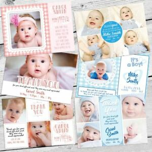 Personalised-Photo-THANK-YOU-Cards-Flat-Postcard-Baby-Child-Boy-Girl