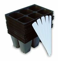 Seedling Starter Trays Set 24 Pc 5 Plant Labels Garden Planting Seed Container
