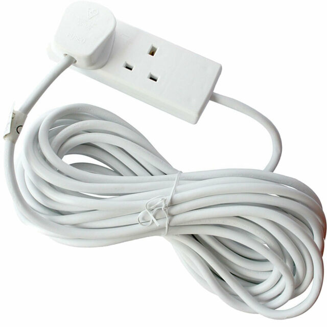 EXTENSION LEAD 2 METRE 6 WAY  GANG CABLE 13A AMP ELECTRICAL MAINS ADAPTER NEW