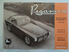 PEGASO Z-102 B & BS Original 1953 English Sales Leaflet Flier Brochure Prospekt
