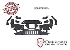 JCR Offroad DIY Front Winch Bumper - Bare Metal - 93-98 Jeep Grand Cherokee ZJ