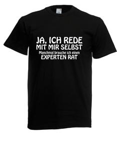 Herren-T-Shirt-Ja-ich-rede-mit-mir-selbst-I-Sprueche-I-Fun-I-Lustig-bis-5XL