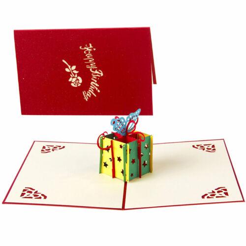 3D Up Glückwunsch Grußkarten Geschenkkarten Geburtstag Hochzeit WeinachtenDE