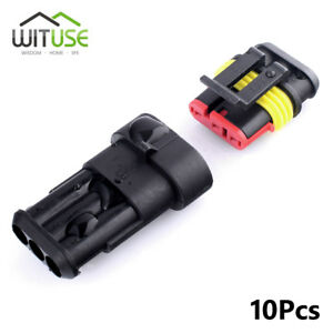 10 sets superseal 3 pin way waterproof electrical wire truck rh ebay com