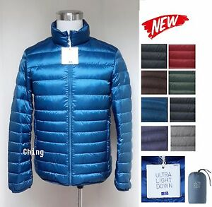 UNIQLO Men Ultra Light Down Jacket w/ Pouch 10 Colors New 180413 ...
