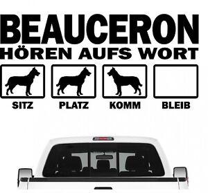 Beauceron-Schaferhund-Hort-aufs-Wort-Hunde-Auto-Aufkleber-Autoaufkleber-Hund-Fol