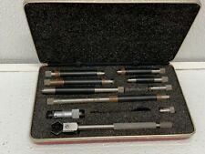 Starrett 823bz Tubular Inside Micrometer Set 823 15 12 Range Case 262f