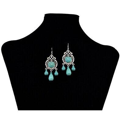 Earrings  Silver Turquoise Hippie Ethnic Boho Festival Tribal Gypsy A1012